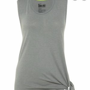 Nike grey side swipe tank size medium